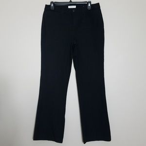"Coldwater Creek ""Natural Fit"" Black Chinos Sz 10"